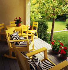yellow-rocking-chair