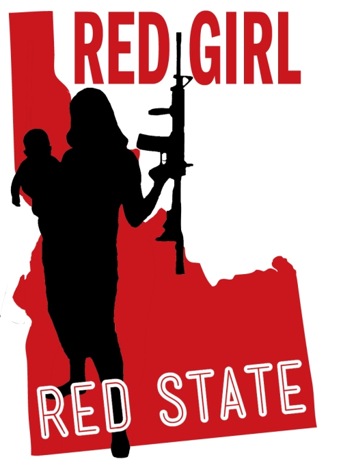 red girl red state assault rifle